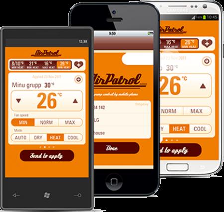 AirPatrol – GSM / Wi-Fi – etäohjaus lämpöpumpulle