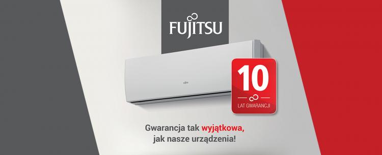 10 lat gwarancji na urządzenia FUJITSU