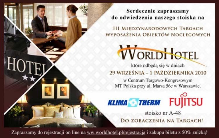 URZĄDZENIA FUJITSU NA TARGACH WorldHotel 2010