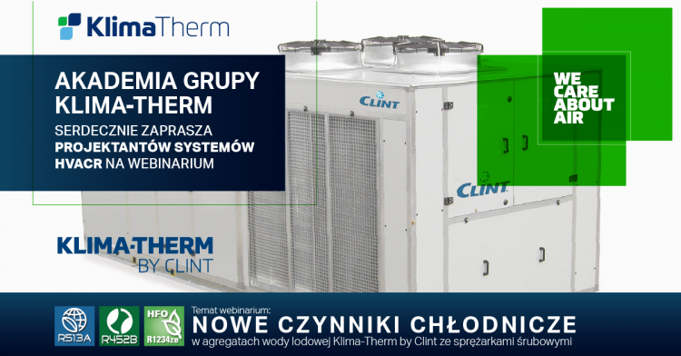 Join our Webinar [16.10.2019; 10:00; Polish]: New refrigerants