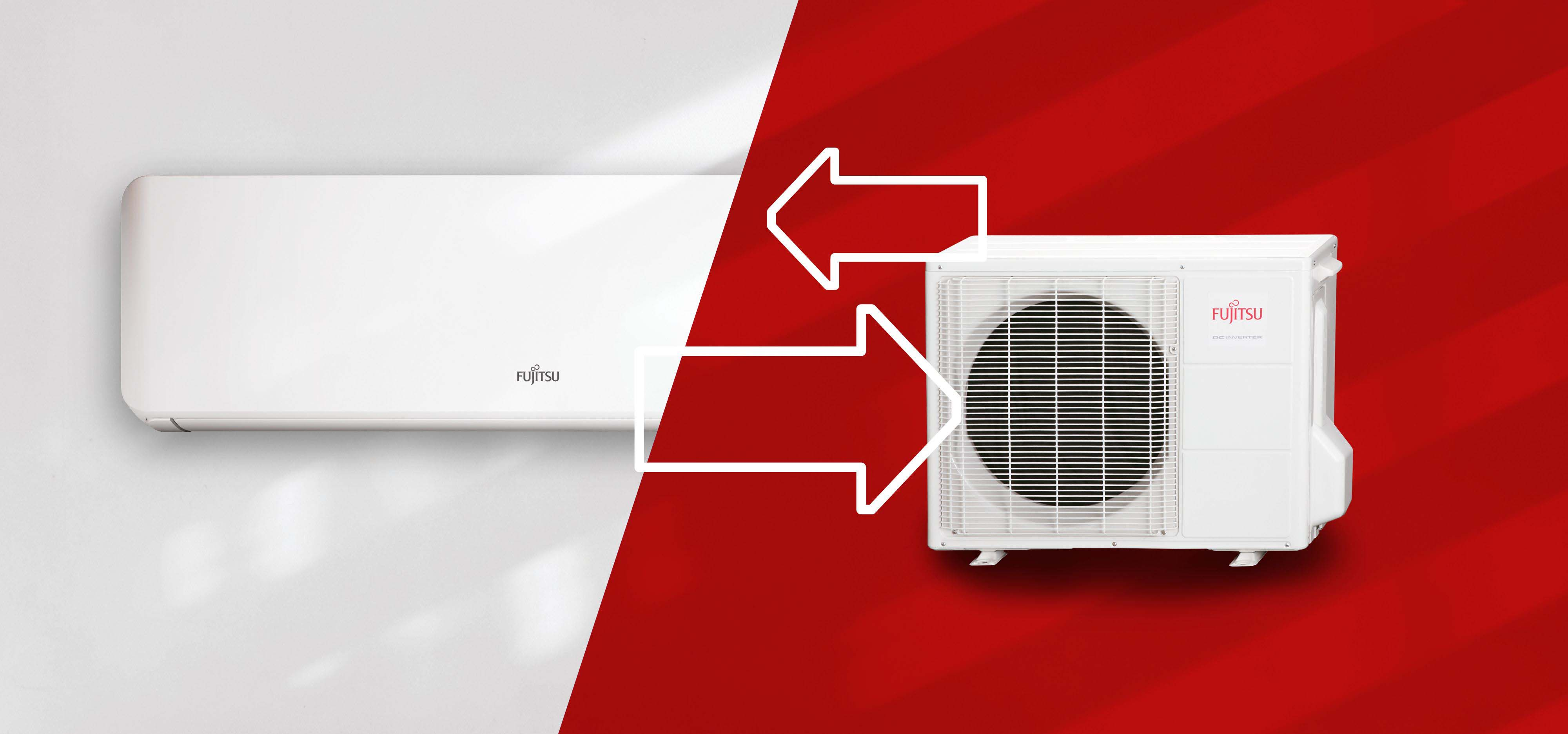 How the cooling system of the air conditioner is built?