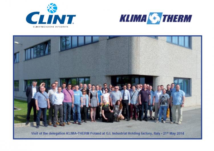 KLIMA-THERM S.A. together with a group of key customers at the G.I. Holding in Italy
