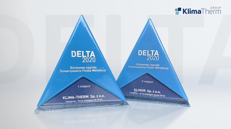 Grupa Klima-Therm nagrodzona statuetkami DELTA 2020